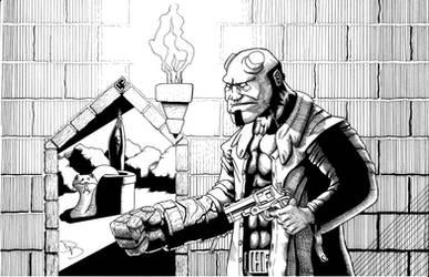 Hellboy by arachnidbethlehem