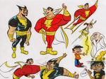 Shazam, Black Adam, Mary Marvel Colors