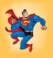 Superman Pin-Up by jakekless