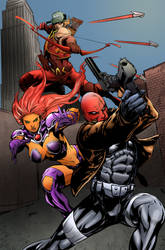 Red Hood and the Outlaws Colors