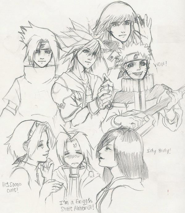 Naruto KH2 Fullmetal Alchemist by Tsukiko88