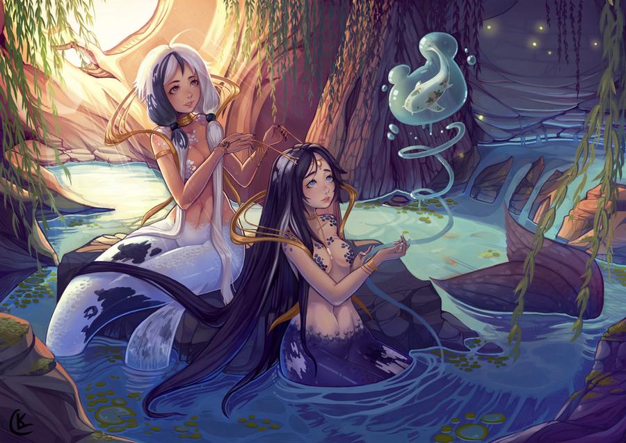 Koi Mermaids by LuckyXClover