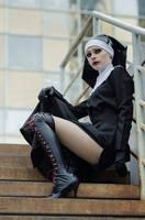 Nun Hitman: Absolution by NellMcGooffin