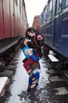 Avatar: Korra and Asami by BelkerCRFT