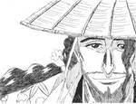 Bleach Ink Series: Kyoraku by Scooz87