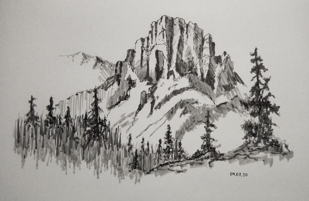 ink and marker mountain