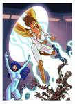 Commission: Thunder Woman and Vigil