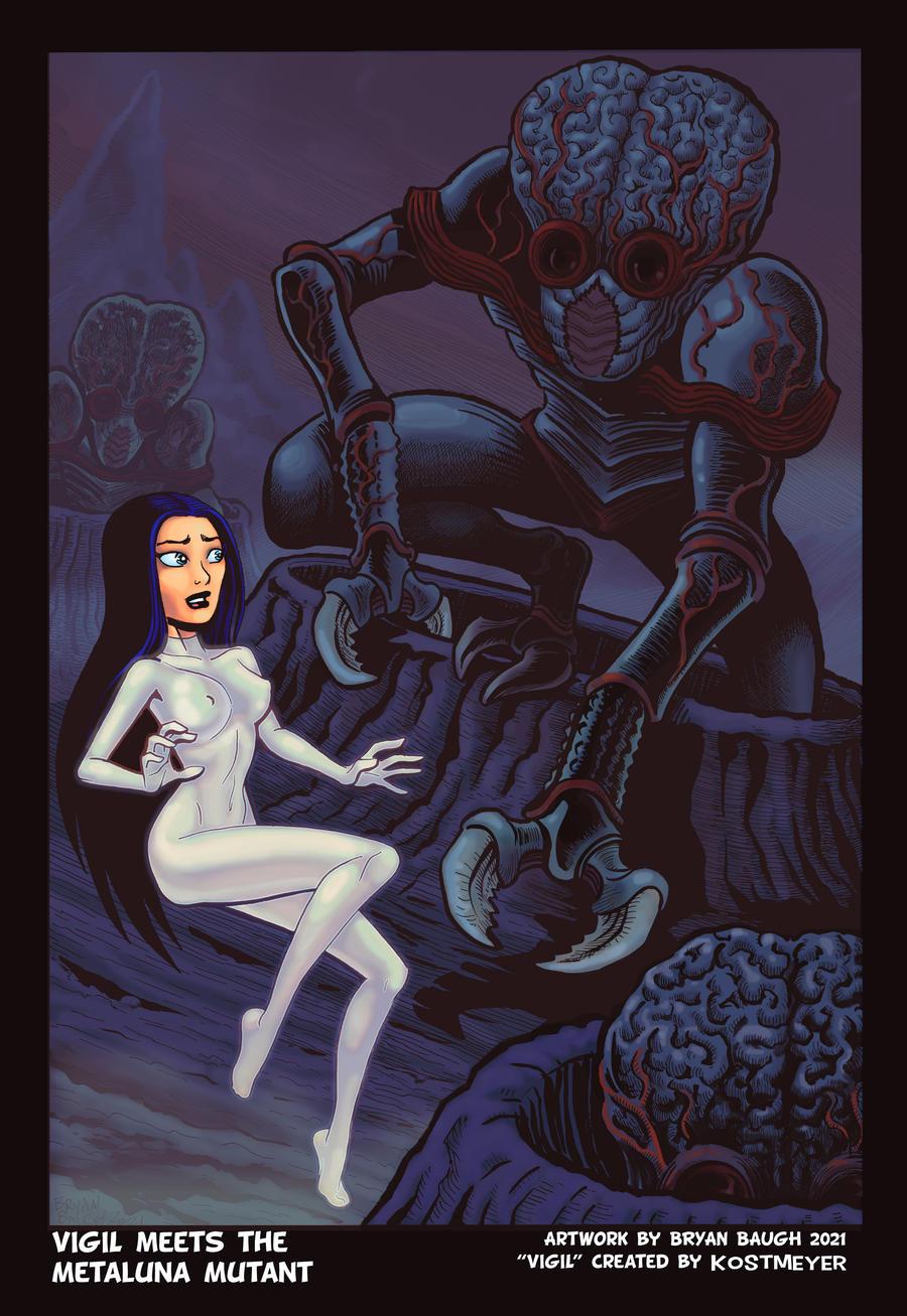 Vigil Meets the Metaluna Mutant by Bryan Baugh