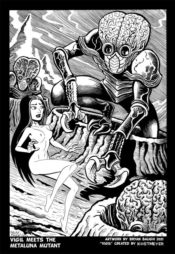 Vigil meets the Metaluna Mutant by Bryan Baugh 2