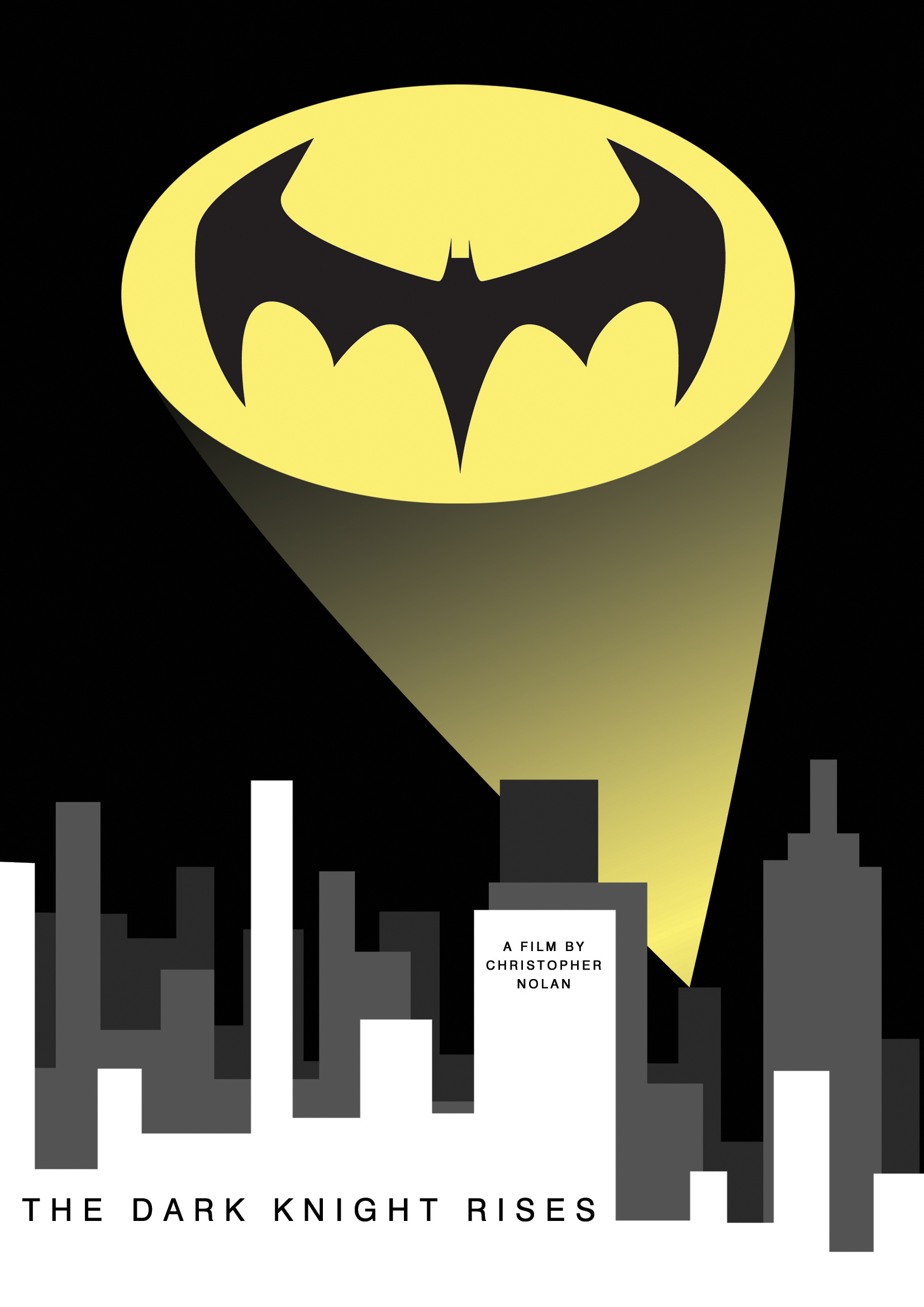 the dark knight rises poster art by