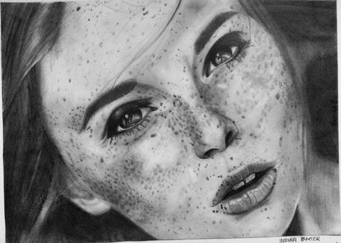 Freckles by GretaTu - Portrait (Attempt)