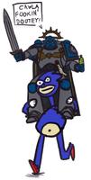 Thunderpsyker rides Sanic into battle