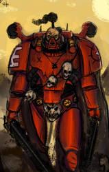 Chaos Lord of Khorne by Skrumpgoblin