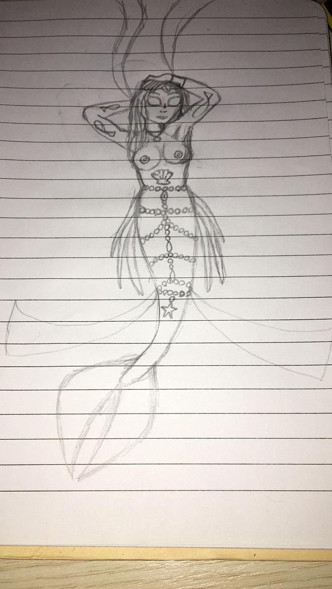 Mermay:Bizarre Mermaid (Sketch) by atram95