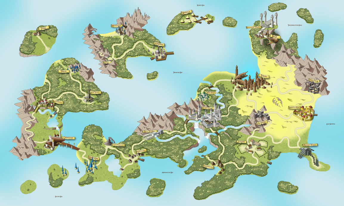 Epic Game Map by csto on DeviantArt