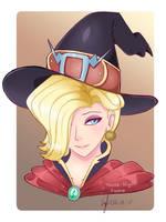 Witch Mercy Headshot by Bunnie-Bunz