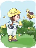 Smol Art - Beekeeper Mei by Bunnie-Bunz