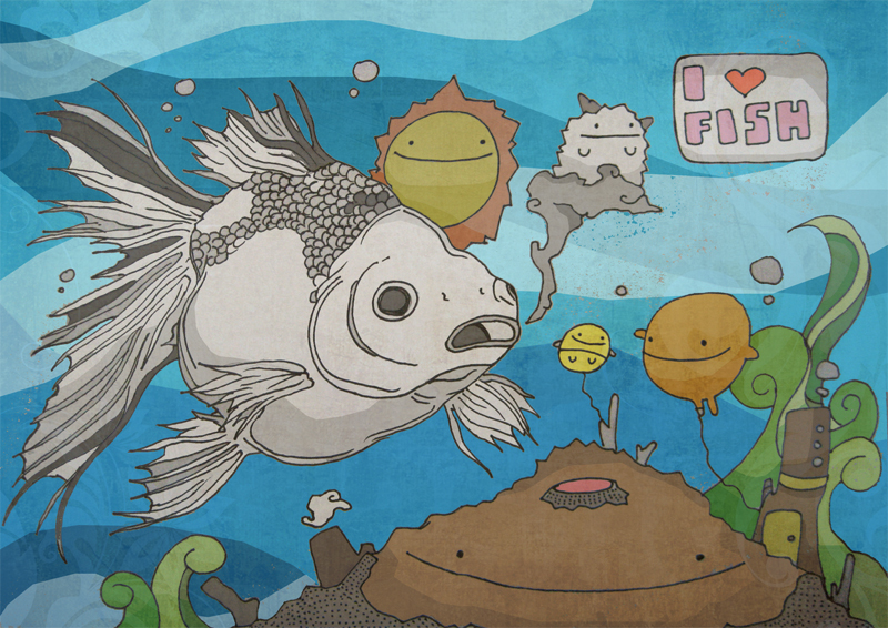 I love fish by injuryordeath on deviantart for I love the fishes