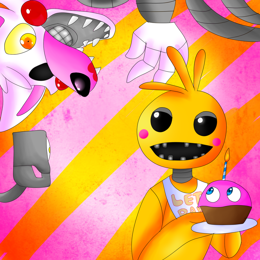 Toy chica X Mangle by ChicaSuperKiller