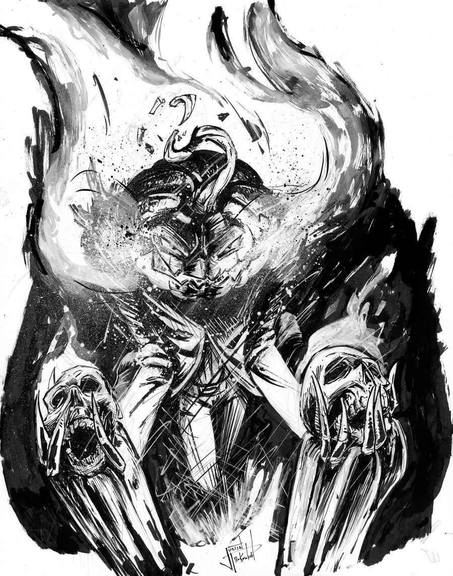 Jack-o-lantern Scarecrow Inktober Sketch by ...
