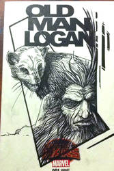 Old Man Logan Cover Sketch Inks by justinprokowich