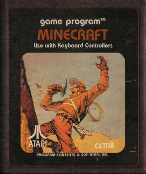 Minecraft Atari Cartridge Icon
