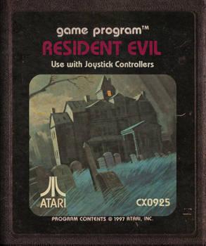 Resident Evil Atari Cartridge Icon