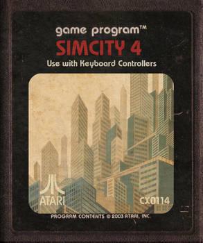 Simcity 4 Atari Cartridge Icon