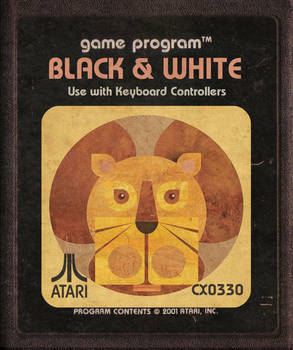 Black and White Atari Cartridge Icon