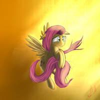 Glowing Fluttershy by Miokomata