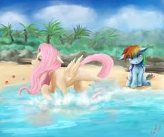 At The Beach by Miokomata