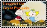 Great Pumpkin Stamp by maniacthelunatic