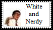 White and Nerdy Stamp by maniacthelunatic