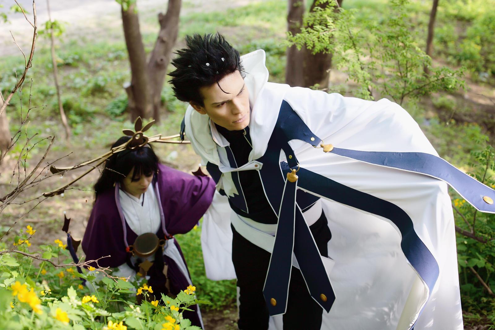 Tsubasa Kurogane cosplay: through the woods. by Megraam