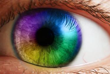 Rainbow Iris by EternallyDamned324