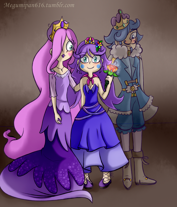 Crystal and her family by GingerPancake