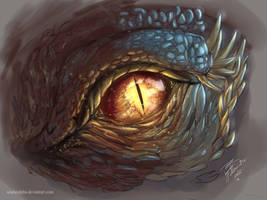 Dragon Eye digital painting by ScarletAlpha