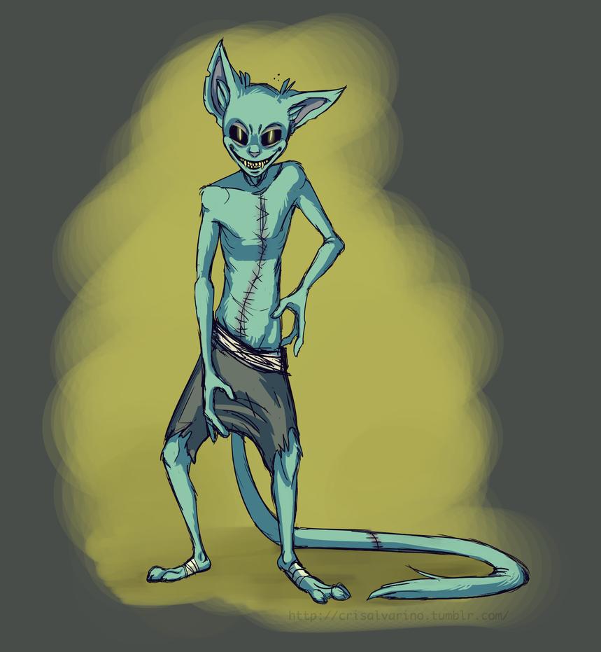 Zombie Cat by Kroobie
