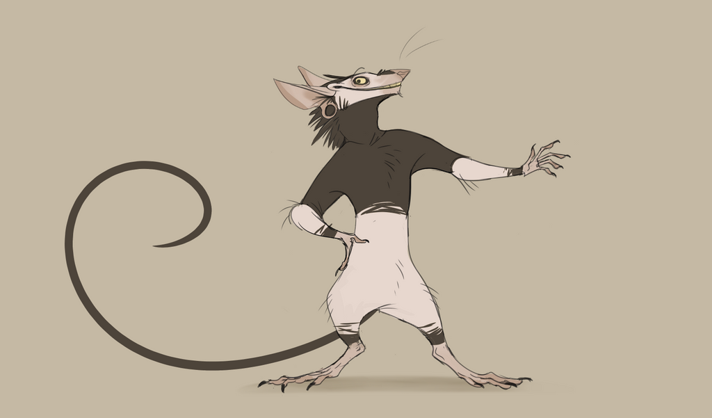 Line Drawing Rat : Spit rat by vincealvarino on deviantart