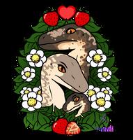 Utahraptor Family by lizzy-marco