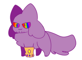 [CLOSED] thanos kittydog adoptable ota by lizzy-marco