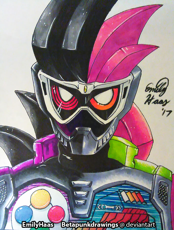 Ex-Aid and Genm by BetaPunkDrawings