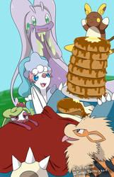 Pokemon Pancake Party by BetaPunkDrawings