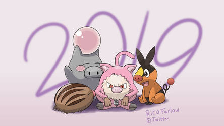 Year of the Pig 2019 by BetaPunkDrawings