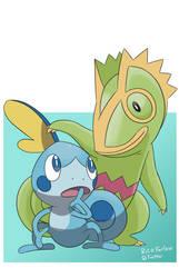 Chameleon Pokemon by BetaPunkDrawings