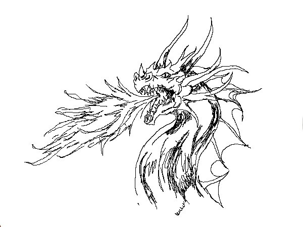 Line Drawing Dragon : Dragon line art by vengefulnight on deviantart
