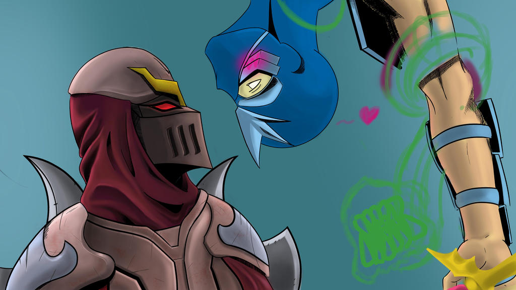 zed and shen in progress by dominicanboi024 on deviantart