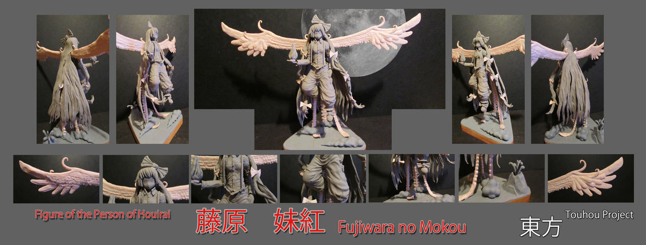 Fujiwara no Mokou unpainted by Zy0n7