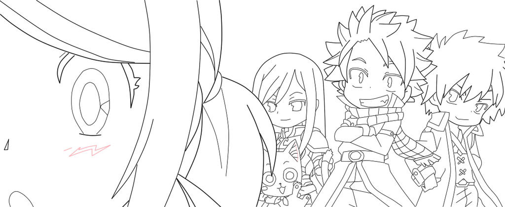 chibi fairy tail coloring pages - photo#25