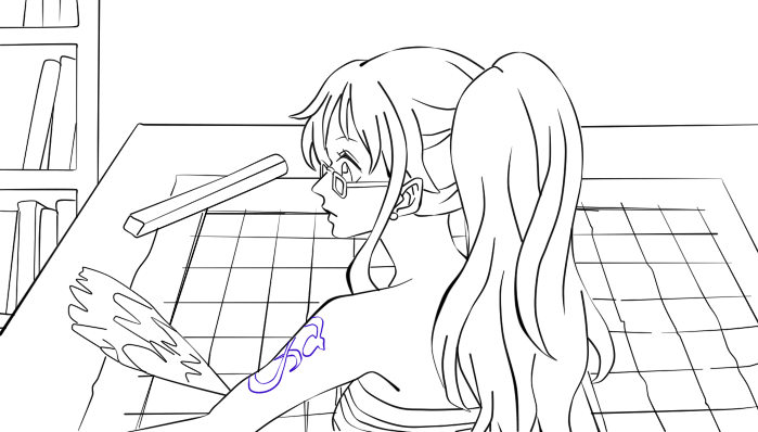 Nami Lineart : Nami lineart by forestmaidenlily on deviantart
